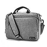 tomtoc 15-15.6 Pouces Sac Bandoulière pour Ordinateur Portable Multifonction Sacoche pour MacBook Pro 15 Pouces |Dell XPS 15 | Surface Book 2 | 15 Pouces Ultrabooks