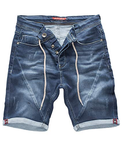 Jean-rock (Rock Creek Herren Sweat Shorts Jeansshorts Denim Short Kurze Hose Herrenshorts Sommer Sweatshort Stretch Bermudas Blau RC-2200 Explorer Blue W42)