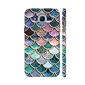 Colorpur Luxury Mermaid Scales Printed Back Case Cover for Samsung J2 Pro