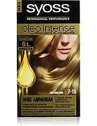 Syoss Oleo Intense Haarfarbe, 7-10 Naturblond, 3er Pack (3 x 115 ml)