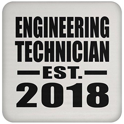 Engineering Technician Established EST. 2018 - Drink Coaster Untersetzer Rutschfest Rückseite aus Kork - Geschenk zum Geburtstag Jahrestag Weihnachtsgeschenk