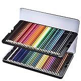 72 Crayons de Couleur avec Boîte, LiSmile Crayons Colorés Aquarelle Coloriage, Crayons d'Artiste Dessin pour Jardin Secret, Crayon en Bois avec Étui Trousse【72 Couleurs】