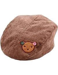 SAMGU Bébés garçons filles Infant Corduroy Chapeau d'ours Beret Cap pour Kid 3-8 ans