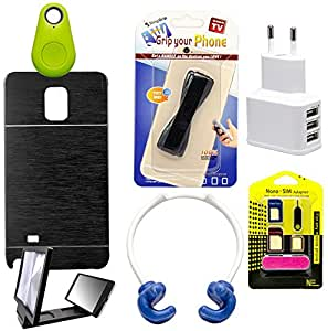 Mify Mobile Accessories Combo for Samsung Galaxy Note 4, Black
