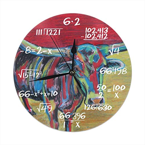 Uosliks Mesquite Joe Silent Non -Ticking Wall Clock for Teacher Office Home Decor Clock