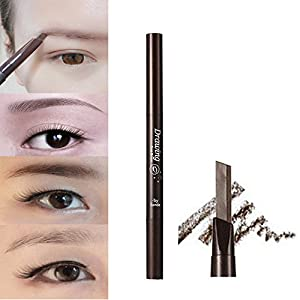 Generic Brown: 2016 New Arrival Professional Women' s Fashion Stylish Soft Makeup Cosmetic Autorotation Eye Liner Eyebrow Pencil Beauty Tools