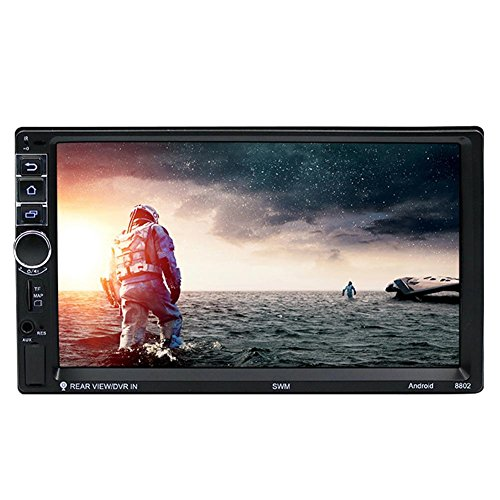 Prettygood7 MP-Player Monitor Wasserdicht 7 Zoll Touchscreen HD 1080P Tragbarer DVD Player mit zusätzlichem Bildschirm 2 Din Android Bluetooth Auto GPS Navigator MP5 Backup Kamera-Kit