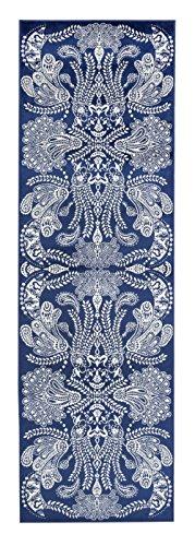 Vallila CM000063-13 Syvämeri gewebt Teppichläufer, Chenille, blau, 68 x 220 cm