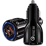 Robo Original Qualcomm Certified Quick Charge QC 3.0 Dual Port Rapid Car Charger Fast Charging /Compatible Car Chargers For All Android And Apple Iphone Models . Hi-speed Car Mobile Charger Usb Socket Fast Charging For All Smartphones And Tablets Apple IP