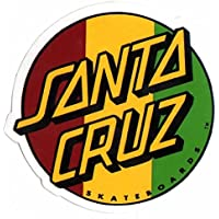 Santa Cruz Rasta Skateboard Sticker - skate board skating skateboarding sk8 new by Santa Cruz