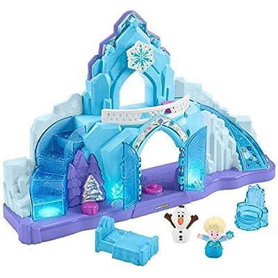 Little People GGV29 Disney Frozen Palacio de Hielo de Elsa, Juego Musical Iluminado de Fisher Price