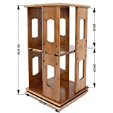 Desktop Bücherregal, einfache Regal, 360 Grad drehbare Bücherregal, Kreative Schreibtisch, Aufbewahrungsbox, Kinder- Bücherregal, zwei Layer