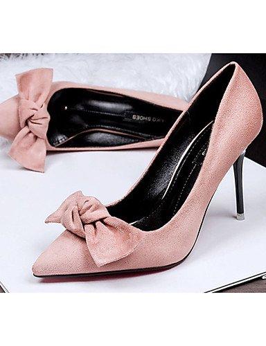WSS 2016 Chaussures Femme-Décontracté-Noir / Vert / Gris / Kaki-Talon Aiguille-Talons-Talons-PU gray-us5.5 / eu36 / uk3.5 / cn35