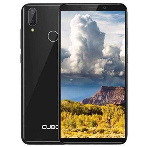 """CUBOT J7 (2019) 3G Günstig Smartphone Für Senioren, Kinder, Geschäft Dual Nano SIM Android 9.0 Handy Ohne Vertrag 5,7\"""" HD Display Quad Core 2GB RAM,16GB interner Speicher (128GB Erweiterbar) -Schwarz"""
