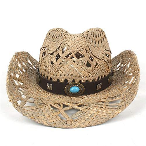 zlhcich Frauen Sonnenhüte Günstige Frauen Sonnenhüte Hut für Sommer Handarbeit Rettungsschwimmer Cowgirl Hombre Sombrero Hatsroup C19