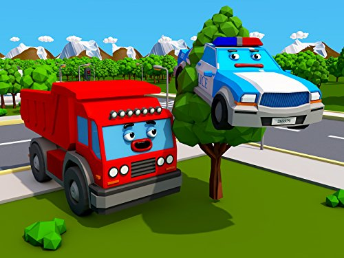 Großer Lastwagen und Polizeiauto (Monster Truck Prime)
