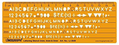 Linograph Disney II alfabeto letras plantilla para redacción carta Tamaño 25mm, color Design#7