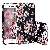 iPhone 6S Hülle, ZXK CO Weich TPU Silikon Case Schutzhülle 3D Vintage Blumen Muster für iPhone 6/6S 4,7 Zoll - Rose