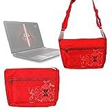 Sacoche rouge pour ordinateurs Asus Zenbook UX410UQ-GV159T Ultrabook 14'' et Premium R457UA-WX195T PC portable - avec bandoulière et rabat par DURAGADGET