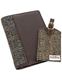 totes Men's Harris Tweed Travel Wallet & Tag