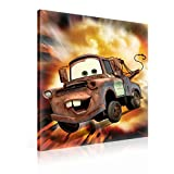 Disney Cars Hook Leinwand Bilder (PPD1485O1FW) - Wallsticker Warehouse - Size O1 - 100cm x 75cm - 230g/m2 Canvas - 1 Piece