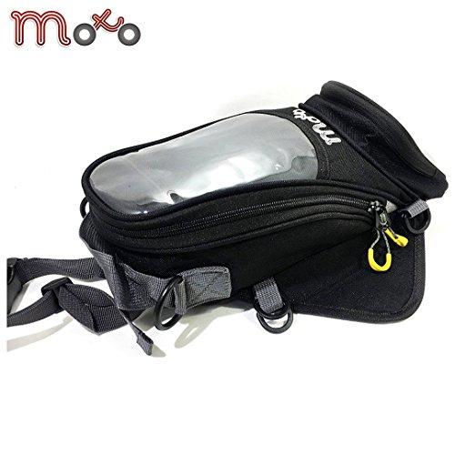 Moto Luggage Trekker Mini Tank Bag 2 Street Downtown Cruising Touring Abenteuer Quad BMX ATV Motorrad Tankrucksack (3 Liter) - Schwarz - One -