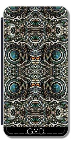 Leder Flip Case Tasche Hülle für Samsung Galaxy S8 (SM-G950) - Silver Glitter-Blasen-Verzierung by Katho Menden