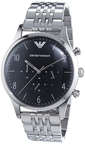Emporio Armani men's Quartz Watch Chronograph Display and Stainless Steel Strap AR1863