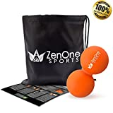 ZenBall Duo Faszien-Ball mit GRATIS E-BOOK | Extra: Tasche & Einstiegsguide (Massage-Ball Orange)
