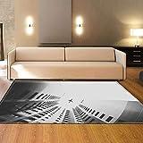 JSBVM Modern Teppiche Anti-Rutsch Teppich Leicht zu reinigender Fleck für Wohnzimmer Schlafzimmer Küche Bad Fitnessstudio Türmatte,C,160×120cm