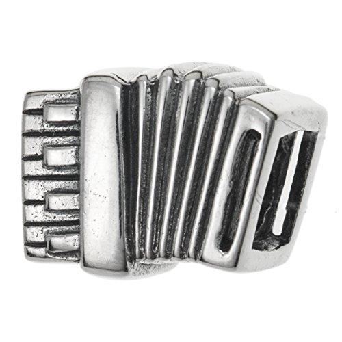 Charm-Anhänger Akkordeon Musik 925 Sterling Silber für europäische Charm-Armbänder