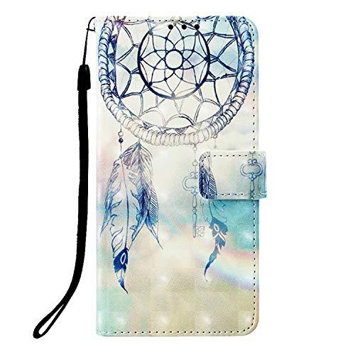 Abuenora Funda Libro para Xiaomi Redmi Note 5A Prime Carcasa con Tapa Flip Case Antigolpes Golpes Cartera PU Cuero Suave - Dibujo Atrapasueños