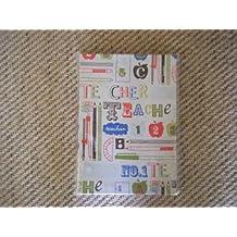Teacher Print Fabric journal