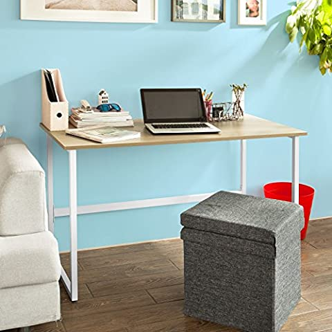 SoBuy® FWT13-N Bureau informatique, Plan de travail, Table pour ordinateur, cadre métal