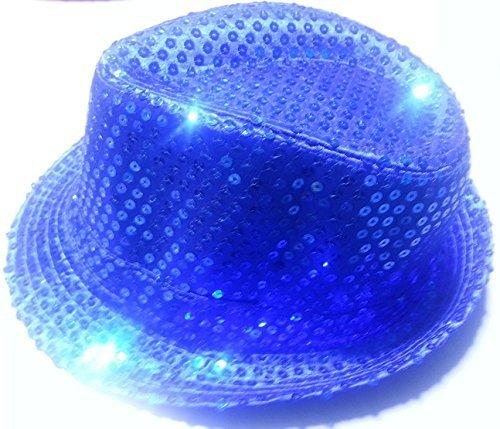 Cap Hut Pailletten blau Party Party Hochzeit Junggesellinnenabschied