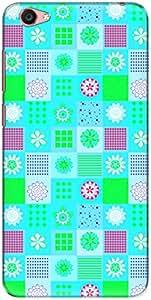 The Racoon Grip printed designer hard back mobile phone case cover for Vivo Y55L. (Tiling Gre)