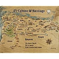 Jakobsweg Spanien Karte.Suchergebnis Auf Amazon De Für Jakobsweg Landkarte Küche Haushalt