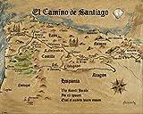 1art1 54101 Jakobsweg - EL Camino De Santiago Anno 1445,