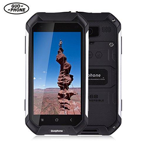 GUOPHONE V19 Smartphone 3G 4,5 inch Android 5,1 IP68 wasserdicht Staub und schockresistent Quad Core 2GB RAM 16GB Rom Outdoor Smart Phone (EU, Schwarz)