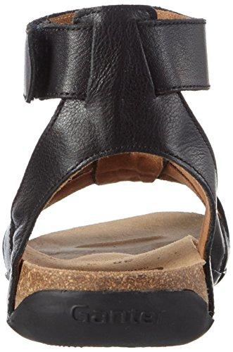 Ganter Giulia, Weite G, Sandales Bride cheville femme noir (schwarz 0100)
