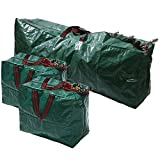 CrazyGadget® 3pcs Extra Large Christmas Xmas Tree Decorations Long Storage Zip Bags with Handles Set