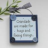 Grandad Wooden Plaque Blue
