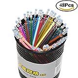 TOYMYTOY Ricariche per penna gel per Bambini Adulti Disegno Sketch Scrapbook 0.5mm 48 Colori