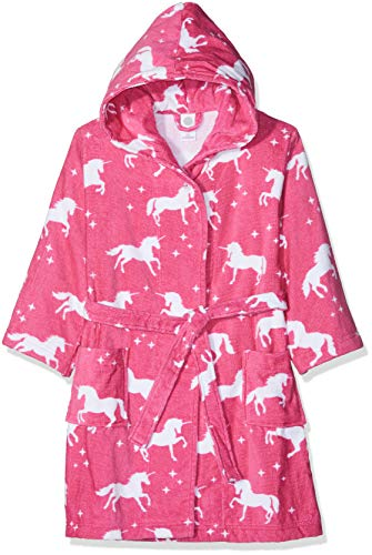Sanetta Mädchen Bademantel Bathrobe, Pink (Carmine Rose 3929.0), 116