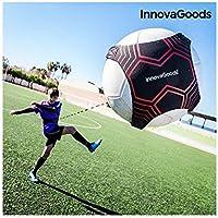 InnovaGoods IG115526 Banda Elástica para Entrenamiento de Fútbol, Unisex Adulto, Negro, Talla Única