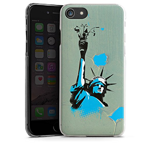 Apple iPhone X Silikon Hülle Case Schutzhülle New York Freiheitsstatue Amerika Hard Case transparent