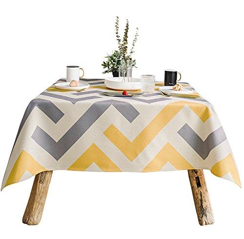 SADWF Tischdecke modernen minimalistischen geometrischen Muster hochwertige Baumwolle Leinen Tischdecke rechteckigen dicken Kaffee Tischdecke, A - Leinen Mischung Rock