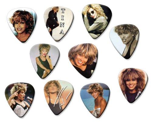Tina Turner (Code A5) Set Of 10 Loose Gitarre Pick Plektrums Plektrons Turner-set