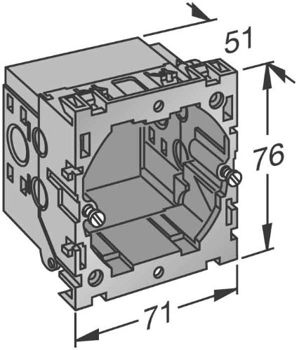 Preisvergleich Produktbild obo-bettermann canalizacion–System Box portamecanismo 71GD6
