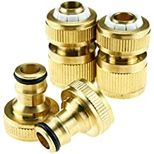 4 PIECES HOSE FITTING SET TAP ADAPTOR HOSE CONNECTOR AUTO STOP CONNECTOR